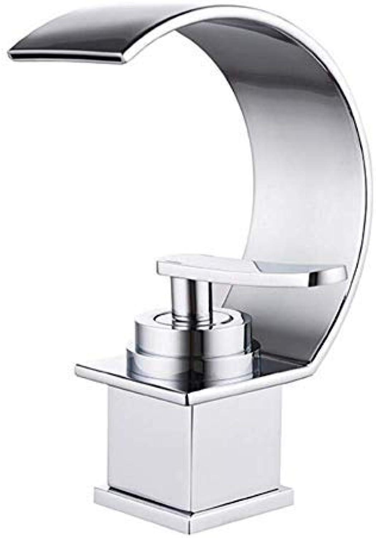 BH-JJSMGS badezimmer aufsatzbecken wasserhahn, heier und kalter wasserhahn mode kreativebecken wasserhahnvierseitige wasserfall wasserhahn