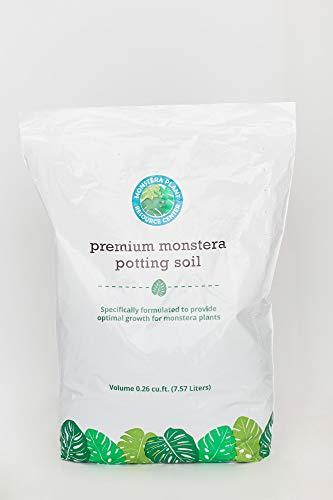 Premium Monstera Potting Soil - Quick Drain Potting Soil for Monstera Deliciosa/Swiss Cheese Plant