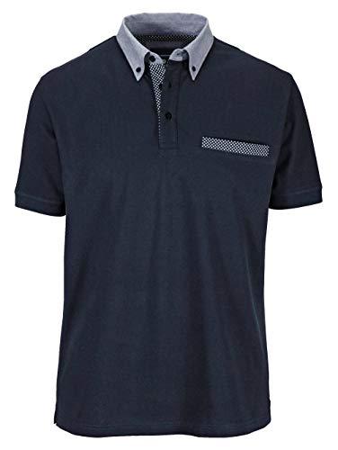 BABISTA Herren Regular Fit Poloshirt in Marineblau aus Baumwolle mit Hemdkragen