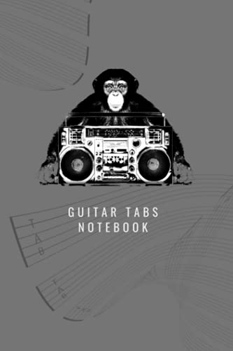 Guitar Tabs Notebook: Jungle Music Tab Notebook - for boombox and music lovers
