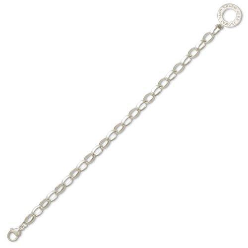 Thomas Sabo Damen-Charm-Armband Charm Club 925 Sterling Silber Länge 20 cm X0032-001-12-L