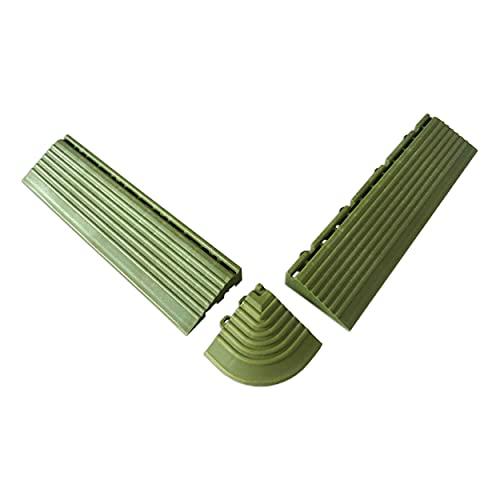 Oviala Coins et Bordures pour Dalles clipsables Vert Rectangulaire 7,5 x 29,5 cm Plastique Dalle clipsable