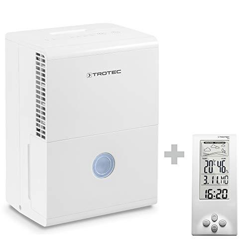 TROTEC TTK 28 E Deumidificatore per ambienti fino a 15 m² / 37 m³, deumidificazione di max. 10 litri/24h incluso un Termoigrometro BZ06