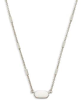 Kendra Scott Fern Pendant Necklace for Women Dainty Fashion Jewelry Bright Silver-Plated