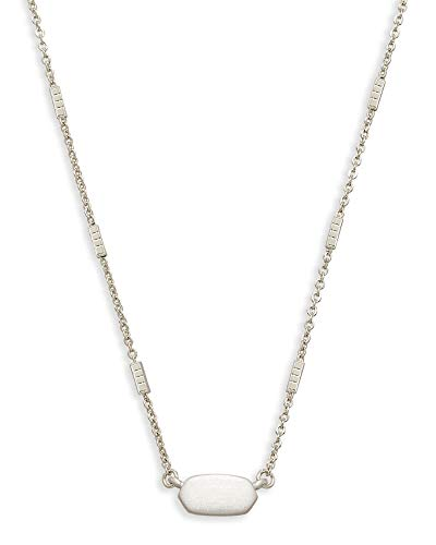 Kendra Scott Fern Pendant Necklace for Women, Dainty Fashion Jewelry, Bright Silver Plated