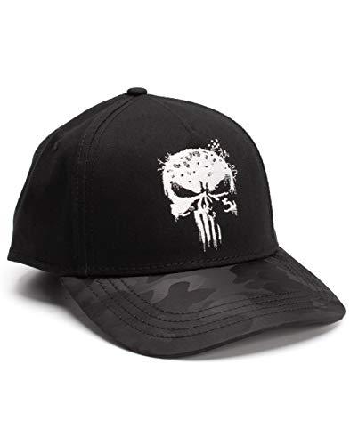 Marvel The Punisher Cap Herren Erwachsene schwarz gestickt One Size Snapback