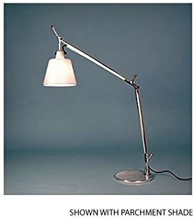 Artemide TLS0006 Tolomeo - One Light Table Lamp with Base, Shade Options: Silver Fiber