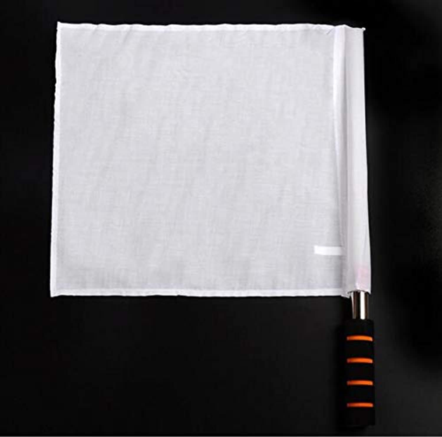 Free Shipping Retail 1piece Four colors for Choose Sports Plain Champion Flag Training Referee Soccer Flags Command Flag   White