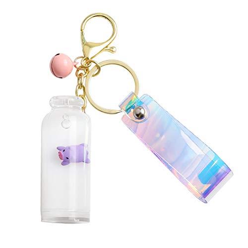 Abimy Llavero flotante con forma de cerdo de leche, accesorio para colgar en la bolsa de botellas