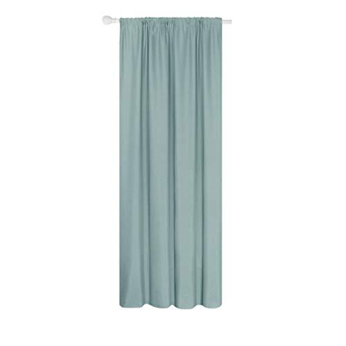 NA. Mentin - Cortinas opacas con ojales de Livingroom, aislantes térmicos, semisombra, de lino pesado, textura rica, para salón, color azul claro (200 x 260 cm)