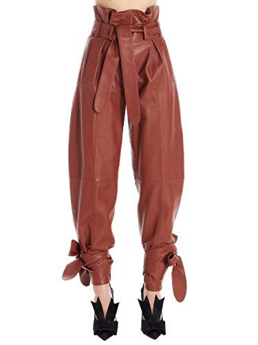 Luxury Fashion | Attico Dames 201WCP04L001082 Bruin Leer Broeken | Lente-zomer 20