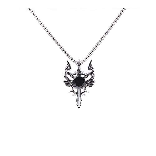 AdorabFruit Présent Pendentif Dragon Sword Colgante Collar Juego de Collar de Cristal...