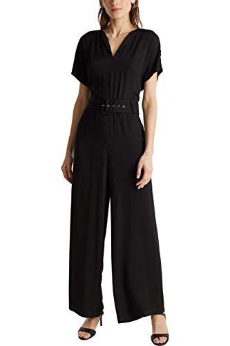 ESPRIT Collection Damen 040EO1L302 Overall, 001/BLACK, 38