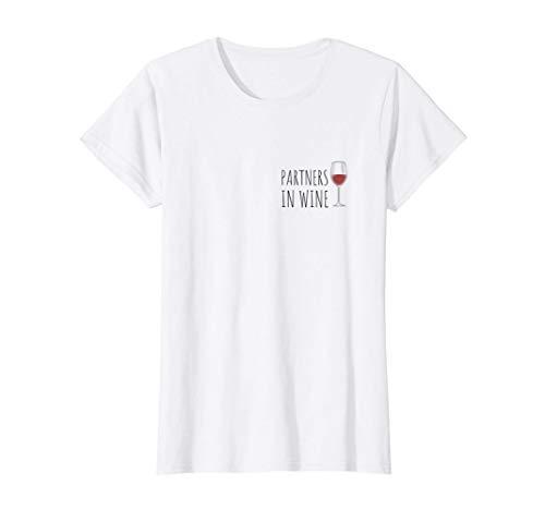 Damen Partners In Wine Freundin Weinliebhaberin Deko Geschenk Wein T-Shirt