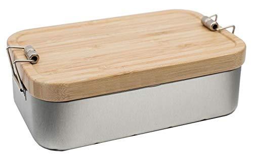 Lunchbox XL Bamboo mit Bambusdeckel * Holz * Stilvoll und nachhaltig