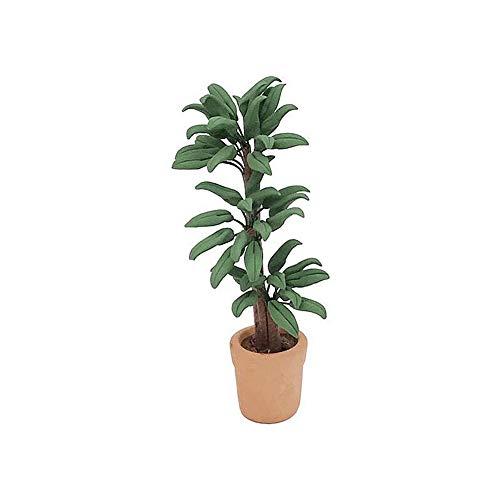 Asien Puppenhaus-Blumen-bonsais 01.12 Mini Puppenhaus Miniatur Grünpflanze Squatica Im Topf Micro Landschaft DIY Fertigkeit-Garten-verzierung Grün