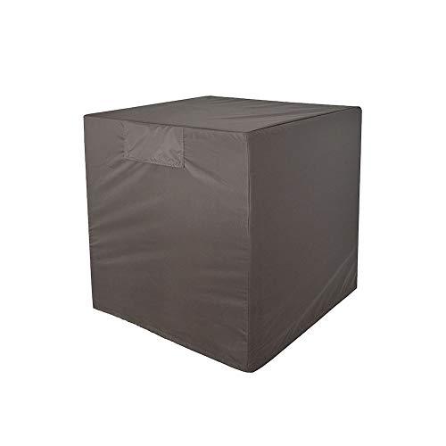 HWJJFCZ Housse de Protection Couvercle de Protection Couverture de Meubles, Noir 76 * 81 * 81cm, Imperméable/crème Solaire Convient à De Plein air Couverture de climatiseur
