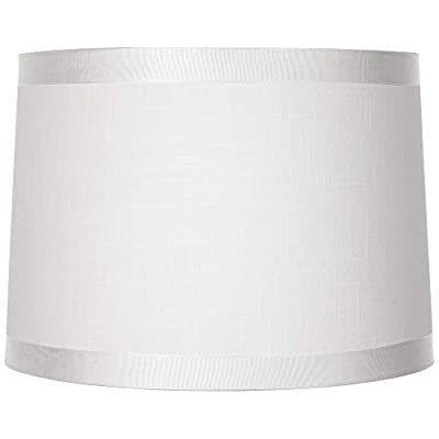 Off-White Fabric Drum Shade 13x14x10 (Spider) - Brentwood