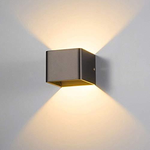 Rindasr eenvoudige leeslamp wandlamp, wandlamp van aluminium kunst, design-serie/LED-wandlamp, energiebesparend (zwart)