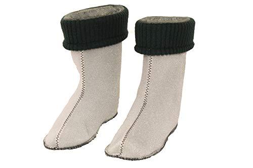 Stiefel Socken Innenschuhe Thermosocken für Regenstiefel DEMAR Kinder, Innenfutter für Gummistiefel, gefütter, stiefelsocken (34/35 EU, Grün)