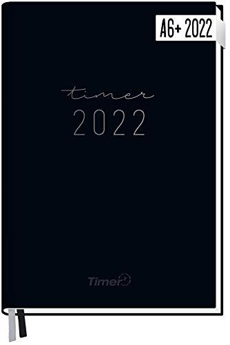 Chäff-Timer Mini Kalender 2022 A6+ [Schwarz] mit 1 Woche auf 2 Seiten | Terminplaner, Wochenkalender, Organizer, Terminkalender mit Wochenplaner | nachhaltig & klimaneutral