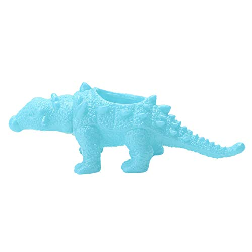 renvena 1Pcs Cute Cartoon Dinosaur Ceramic Succulent Planter, Water Culture Hydroponics Bonsai Cactus Flower Pot,Air Plant Vase Holder Desktop Decorative Organizer Sky Blue One Size
