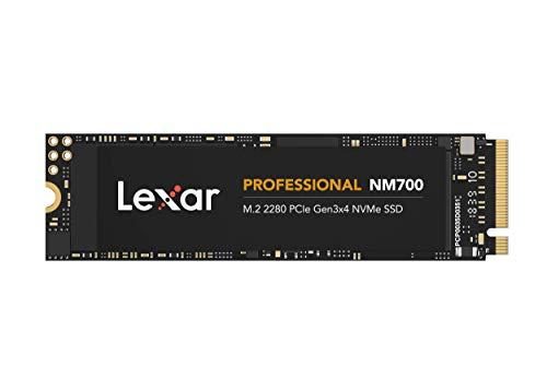 Lexar Professional NM700 M.2 2280 PCIe NVMe 256GB SSD, Juegos, hasta 3500MB/s de Lectura (LNM700-256RB)