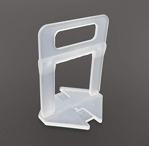 Sistema de nivelación de baldosas, 1,5 mm, 200 unidades, grosor de la baldosa: 12-21 mm, extralargo, sistema de colocación de baldosas, sistema de nivelación de azulejos