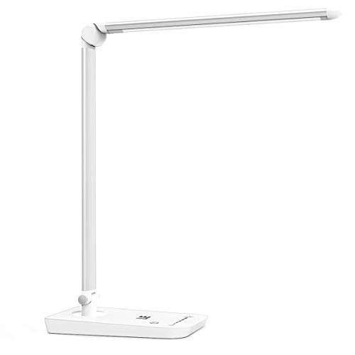 LE LED Desk Lamp, Dimmable Daylight Lamp, 8W, Touch Control Desktop Light, 7 Brightness Grades, Eye Caring Table Lamp for Back To School, Bedside, Office, Reading, Hobby and More