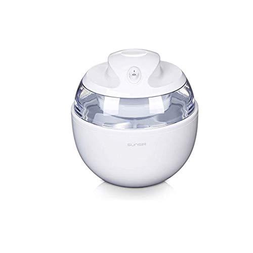NXYJD Sweet Spot Instant Ice Cream Maker Pan, Mini Ice Cream Maker en Minutos Máquina de Hielo frita for Sorbete, Yogur, Helado, hogar, sin Necesidad de Electricidad (Color : White)
