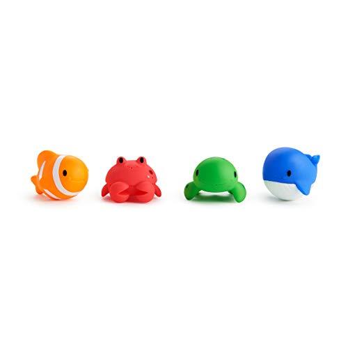 Munchkin - Ocean, 4 juguetes para la hora del baño