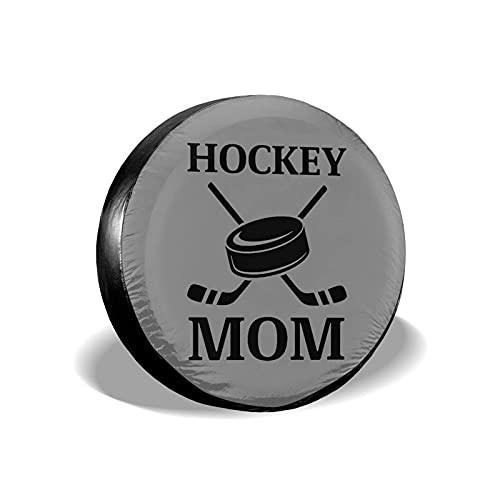 Cubierta de neumático Hockey Mom Poliéster Universal Rueda de Repuesto Cubierta de neumático Cubiertas de Rueda para Remolque RV SUV Camión Accesorios para remolques