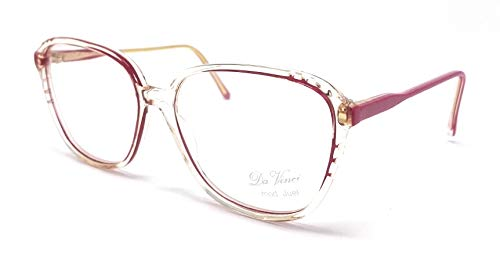Da Vinci Damenbrille Juel BVB transparent und rot Schmetterling Vintage