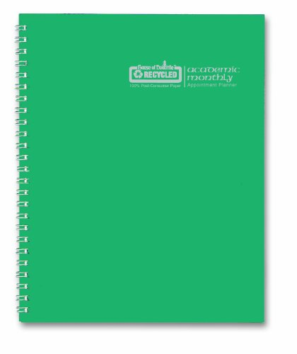 House of Doolittle Planner, 2015-2016 Academic Year, Green, 8.5 x 11 Inches (HOD26309-16)