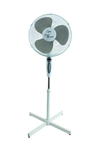 SUNTEC Ventilator mit Fernbedienung, Timer | Stand Standventilator CoolBreeze 4000 | Leise 40 cm Durchmesser, 50 Watt | Fan Windmaschine Weiss | für Bett, Schlafzimmer, Büro, Wohnung, Terrasse
