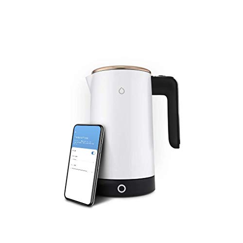 Smarter iKettle 3rd Generation by Smarter - WiFi Internet Smart Kettle, 3000w, White and Gold Stainless Steel, Electric, Digital Temperatures, iOS, Android App, Alexa Enabled with Keep Warm Function