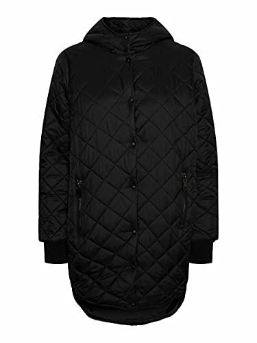 VERO MODA Damen VMHAYLE Hood 3/4 Jacket COL Steppjacke, Black, XS