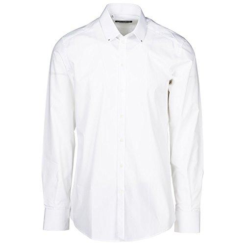 Dolce&Gabbana Herren Hemd Bianco 41 cm