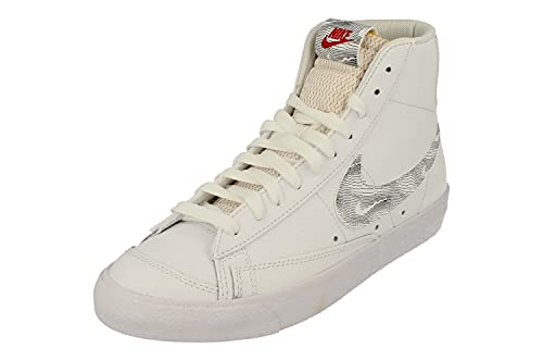 Nike Blazer Mid 77 Hombre Trainers DH3985 Sneakers Zapatos (UK 5.5 US 6 EU 38.5, White University Red Black 100)
