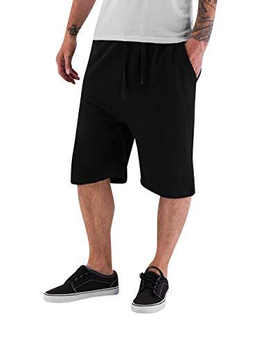 Dangerous DNGRS Smoff Herren Sweat-Shorts Basic Sporthose Freizeithose schwarz XL