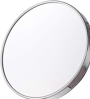 ACAMPTAR Rond Salle de Bains Sucker Maquillage Miroir Aspiration Cadre en Métal Miroir de Toilette Toilette Tenture Miroir-S