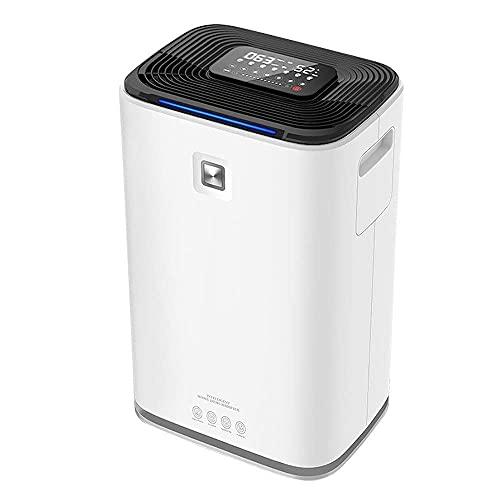 QCSMegy Combo deumidificatore e purificatore d'Aria da 70 pinte con HEPA per spazi Domestici Fino a 5000 Piedi Quadrati, 9 galloni al Giorno, Controllo Touch Intelligente