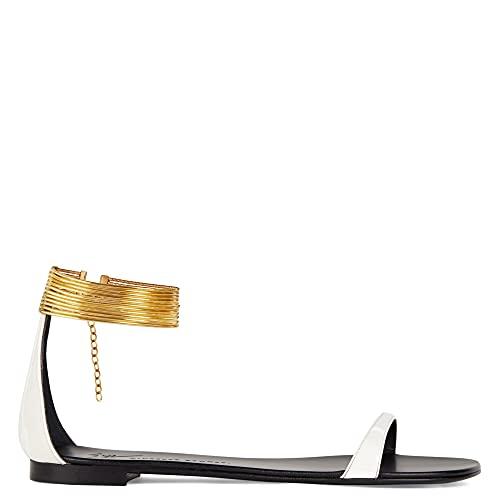 Giuseppe Zanotti Kay IT41 - Zapatos planos para mujer, color blanco, White, 36 EU
