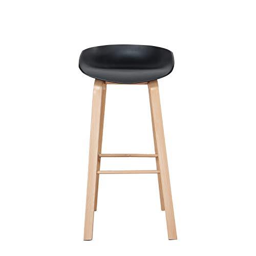 Silla ajustable taburete giratorio 360° silla contador silla bar silla de cuero PU silla superficie comedor negro 2 piezas