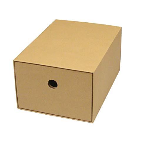カラーボックス用引出し箱(No.1)【縦置き用】【クラフト】 12枚セット (引き出し 収納ボックス 引き出しボックス 整理ボックス 引き出し箱 ダンボール 段ボール)
