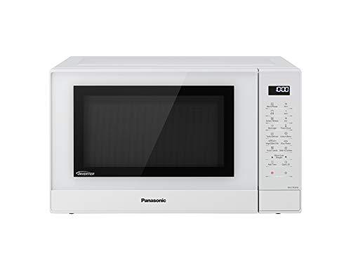 Panasonic NN-GT45K - Microondas con Grill (1000W, 31L, 7 niveles, Grill Cuarzo 1100W, Plato Giratorio 340mm, Control táctil, 24 modos, Turbo Defrost, Genius Sensor, tecnología Inverter) Blanco