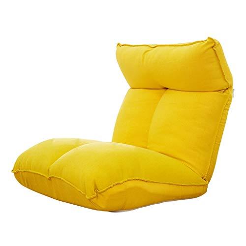 XEWNEG Faules Sofa Verstellbare Falten Entspannung Stühle Und Spielstühle - Bodenmatratze Schlafsofa TV-Spiele-Büro (Farbe : Gelb)
