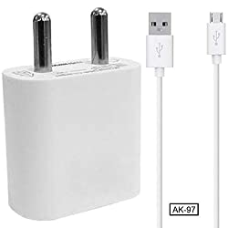 AK-97 2.0Amp Dual USB Port Wall Charger/Travel Charger Adapter with Micro USB Data Cable for Samsung Galaxy A6 Plus