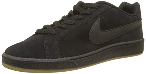 Nike Court Royale Suede, Sneaker Uomo, Nero (Black/Black/Gum Light Brown 008), 44 EU