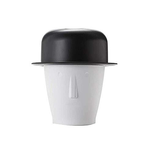 Bote de basura Cocina, Ebay Forma de plástico con capucha Cubo de basura Escritorio Mini Bote de basura Baño Cocina Oficina Dormitorio Habitación de los niños Caja de almacenamiento Sombrero,Negro